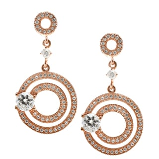 Michael Valitutti Gold Over Silver and Cubic Zirconia Earrings