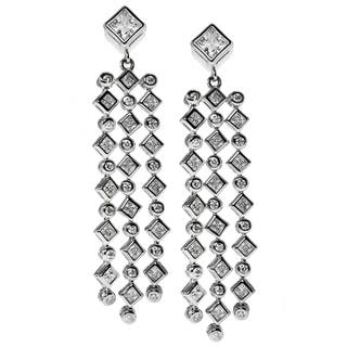 Michael Valitutti Sterling Silver Waterfall Drop Cubic Zirconia Earrings|https://ak1.ostkcdn.com/images/products/10195064/P17319761.jpg?impolicy=medium
