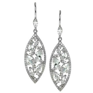 Gems en Vogue Sterling Silver and Cubic Zirconia Earrings