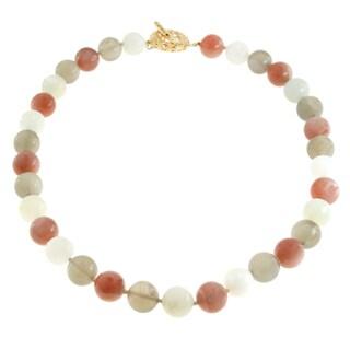 Dallas Prince Sterling Silver Multi-Coloured Moonstone toggle Necklace