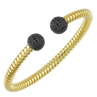 Oro Rosa 18k Yellow Gold Over Bronze Bold Cuff Bracelet