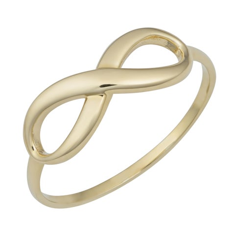 Fremada 10k Yellow Gold High Polish Infinity Ring (size 6 - 9)
