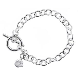 Clemson Sterling Silver Link Bracelet