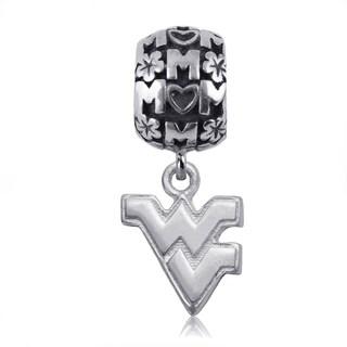 WVU Sterling Silver Mom Charm Bead