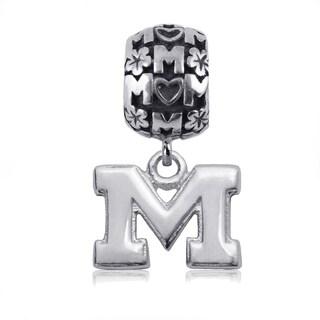 Michigan Sterling Silver Mom Charm Bead