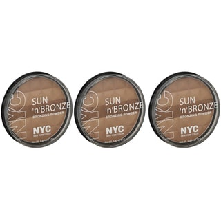 N.Y.C. New York Color Sun 2 Sun Fire Island Tan Bronzing Powder (Pack of 3)