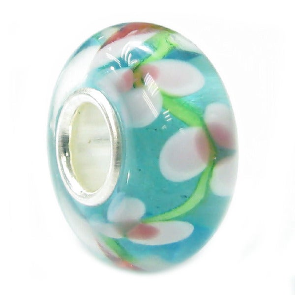 ba533ed73 Shop Queenberry Sterling Silver Multicolor Flower Murano European Bead Charm  - Free Shipping On Orders Over $45 - Overstock - 10195355