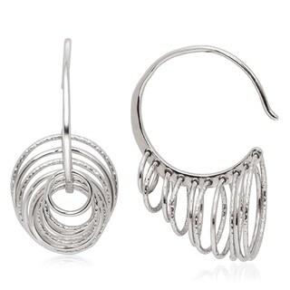 La Preciosa Sterling Silver Multi-circle 3D Horn Earrings