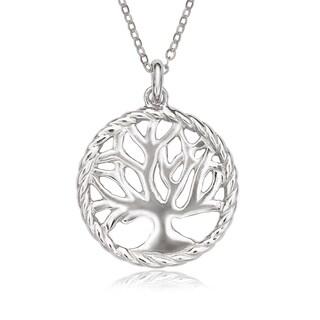 La Preciosa Sterling Silver Tree of Life Circle Pendant