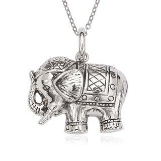 La Preciosa Sterling Silver Oxidized Elephant Pendant