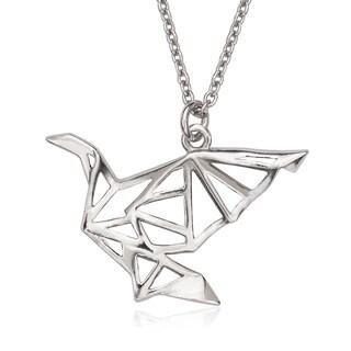 La Preciosa Sterling Silver Origami Bird Necklace