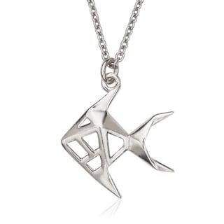 La Preciosa Sterling Silver Origami Fish Necklace