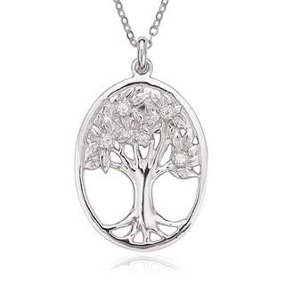 La Preciosa Sterling Silver Oval Tree of Life Pendant