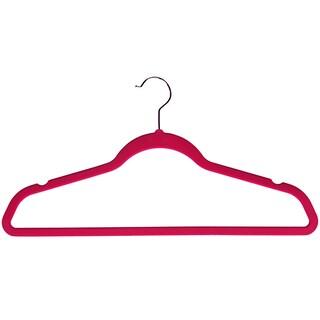 Velvet plastic Huggable Suit Hangers (Set of 50) (Option: Pink)