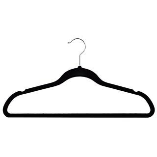 Velvet plastic Huggable Suit Hangers (Set of 50) (3 options available)