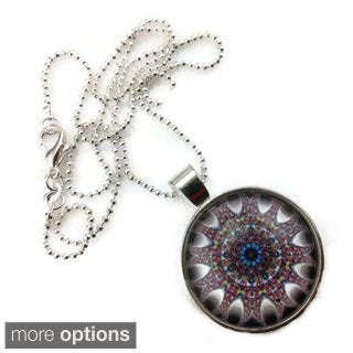 Mama Designs Handmade Purple Glass Dome Necklace