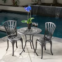 Andorra Outdoor 3-piece Cast Aluminum Bistro Set by Christopher Knight Home