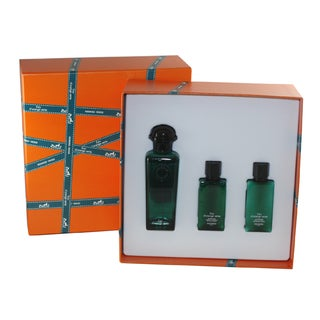 Hermes Eau D' Orange Verte Men's 3-piece Gift Set