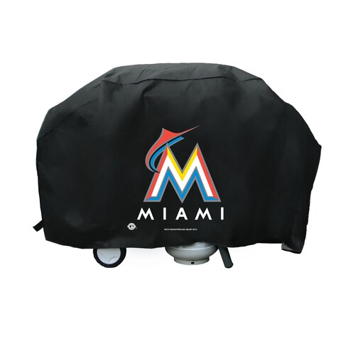 Miami Marlins 68-inch Deluxe Grill Cover