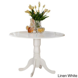 Laurel Creek Karter Round Table with Two 9-inch Drop Leaves (More options available)