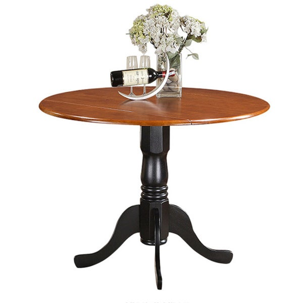 Dublin round table with two 9 inch drop leaves free for 44 inch round dining table with leaf