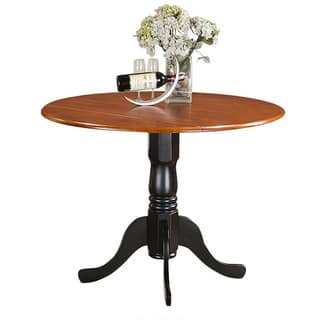 Copper Grove Karl Round Table with Two 9-inch Drop Leaves