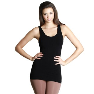 Nikibiki Women's Seamless Solid Jersey Basic Racer Back Tank Top