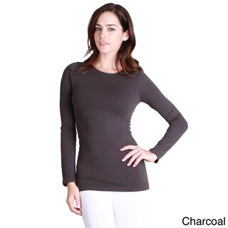 Nikibiki Women's Seamless Long-Sleeve Crew Neck Top