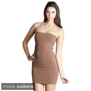 Nikibiki Women's Seamless Layered Tube Dress