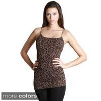Nikibiki Women's Seamless Leopard Print Rib Camisole Top