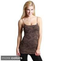 Nikibiki Women's Seamless Zebra Print Rib Camisole Top