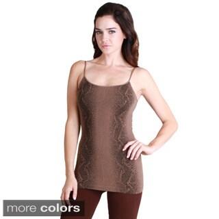 Nikibiki Women's Seamless Snake Skin Print Ribbed Camisole Top