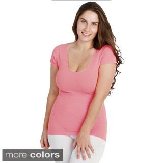 Nikibiki Women's Plus-size Seamless Cap Sleeve Top