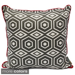 Honeycomb 20-inch Print Reversible Decorative Pillow with Down Alternative Fill
