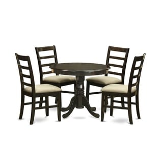 Link to 5-Piece Kitchen Table Set and 4 Kitchen Chairs - Cappuccino Similar Items in Dining Room & Bar Furniture