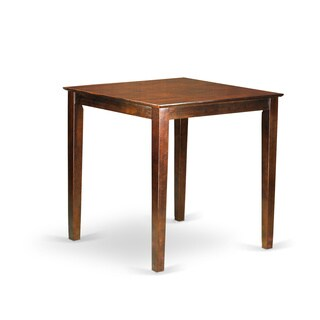 Vernon Pub Counter Height Square Table (Option: Mahogany Finish)