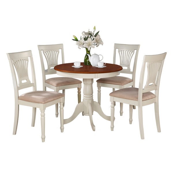 and cherry kitchen table and four kitchen chair 5 piece dining set