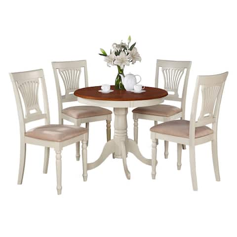 5-Piece Kitchen Table Set And 4 Chairs For Dining Room