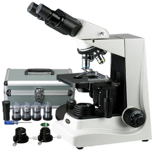 40x-1600x Darkfield and Turret Phase Contrast Compound Microscope