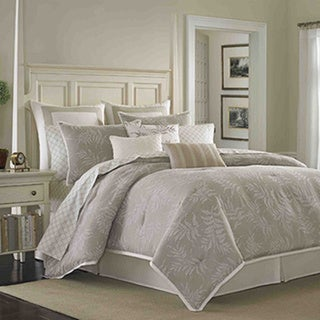 Shop Laura Ashley Bracken Leaf 4 Piece Comforter Set
