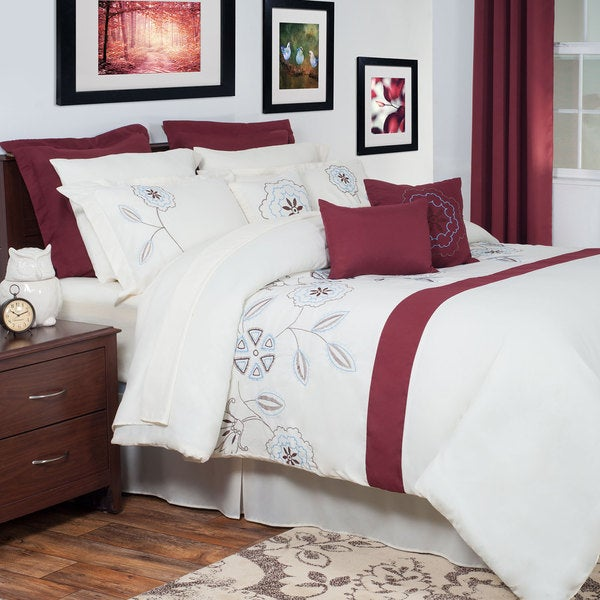 Windsor Home Alexis Embroidered 13-piece Comforter Set