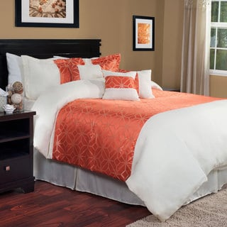 Windsor Home Orange Pumpkin 7-piece Comforter Set
