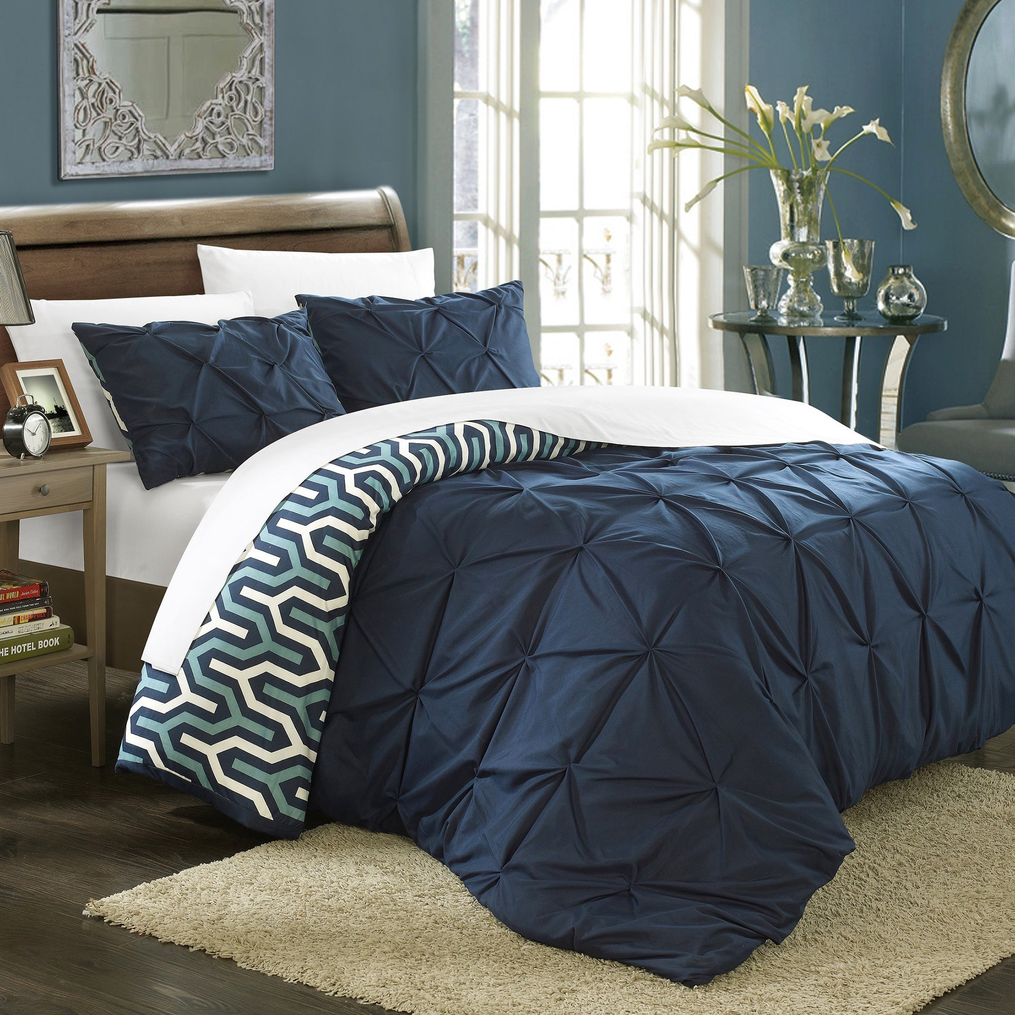 Chic Home Talitha Pleated Reversible 3-piece Duvet Cover ...