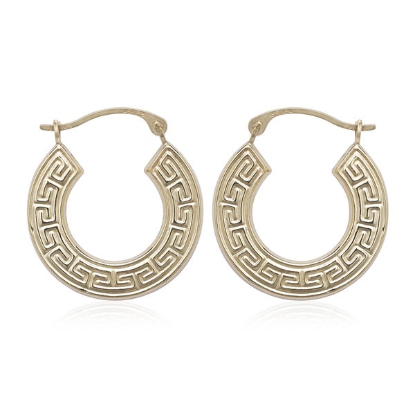 overstock earrings shop 10k yellow gold key hoop earrings free 1719