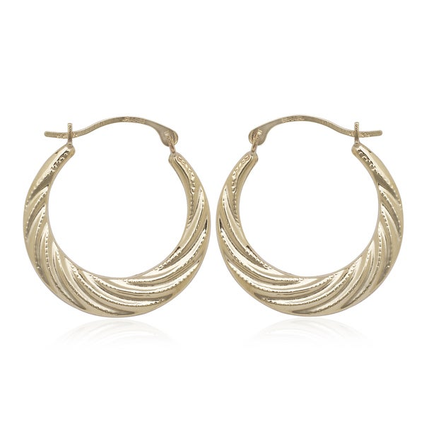 gold shrimp earrings shop 10k yellow gold shrimp hoop earrings free shipping 486