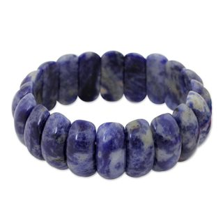 Handcrafted Sodalite 'Just Glow' Bracelet (Thailand)