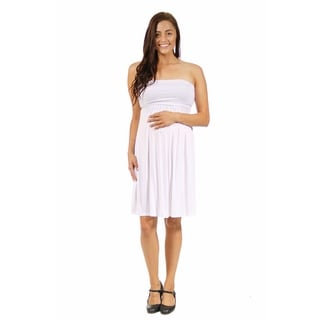24/7 Comfort Apparel Women's Strapless Maternity Dress