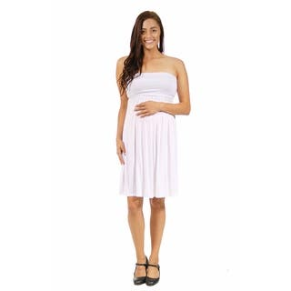 24/7 Comfort Apparel Women's Strapless Maternity Dress|https://ak1.ostkcdn.com/images/products/10196057/P17320652.jpg?impolicy=medium
