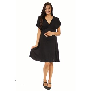 24/7 Comfort Apparel Maternity Women's Empire Dress