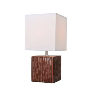 Lite Source Kube Table Lamp, Coffee
